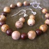 2014 Brown Stone Bracelet and Earrings