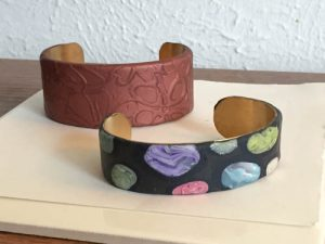 Bertha Adamson Cuff Bracelets with Polymer Clay
