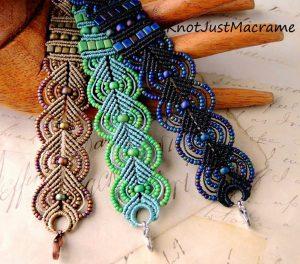 Leaves Micro Macramé Bracelet
